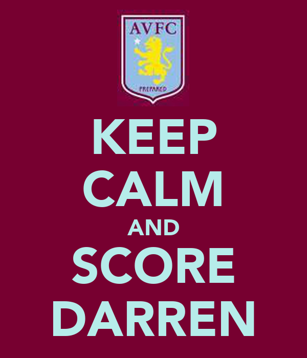 KEEP CALM AND SCORE DARREN