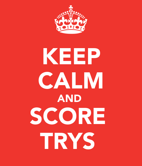 KEEP CALM AND  SCORE  TRYS