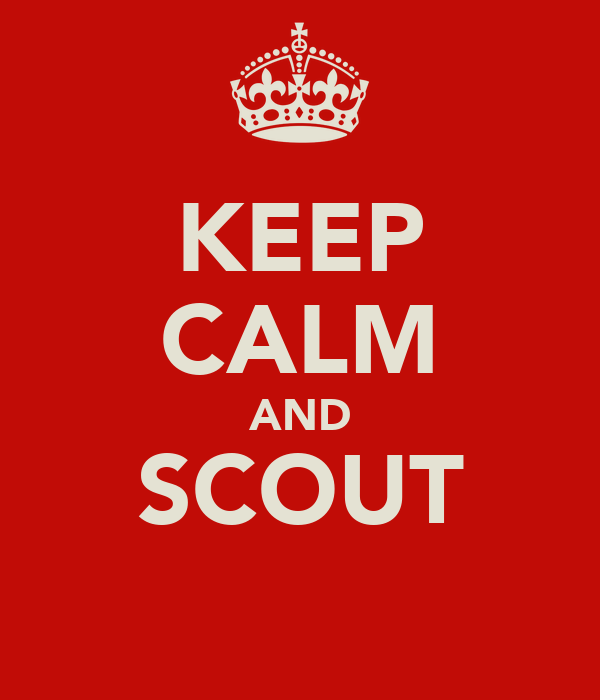 KEEP CALM AND SCOUT