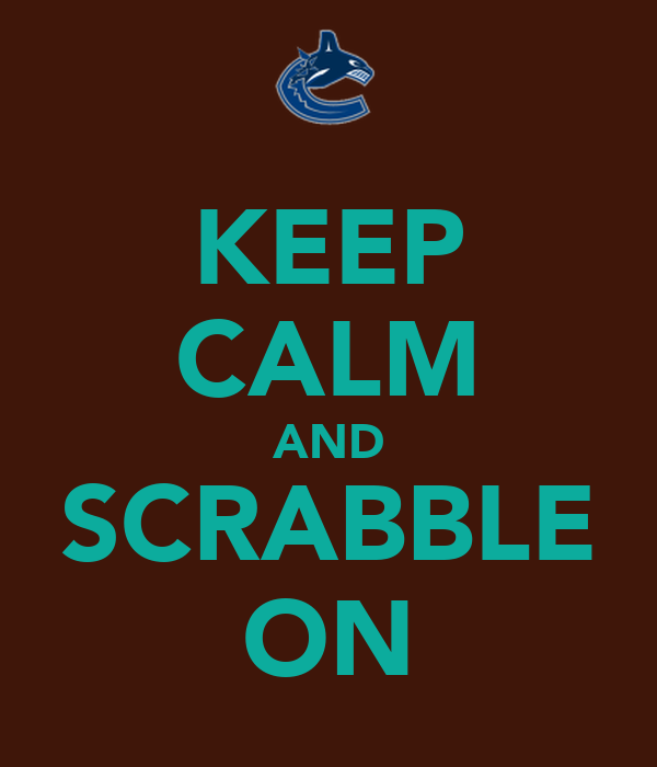 KEEP CALM AND SCRABBLE ON