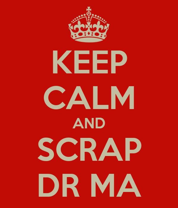 KEEP CALM AND SCRAP DR MA