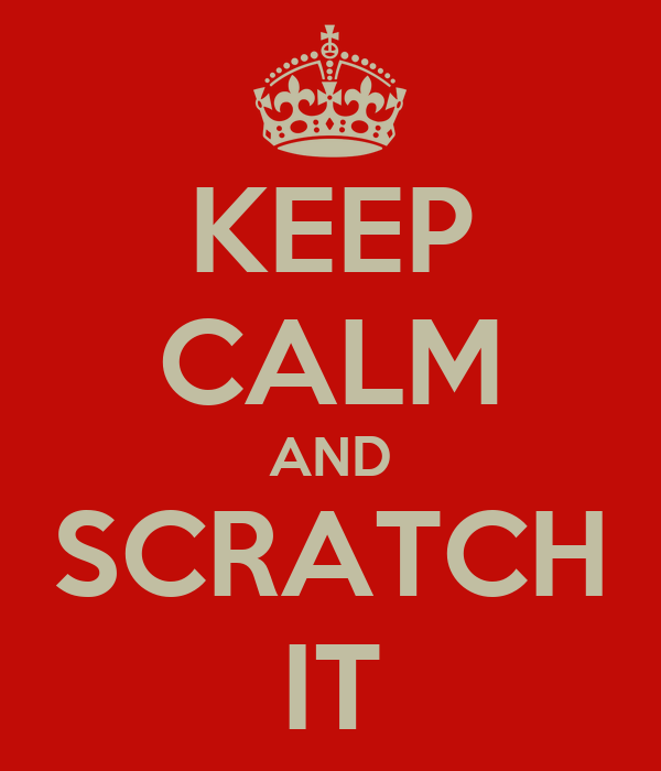 KEEP CALM AND SCRATCH IT