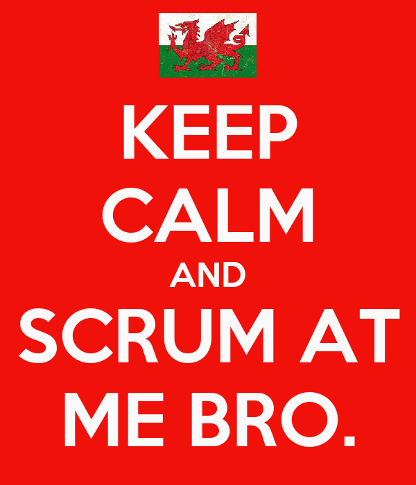KEEP CALM AND SCRUM AT ME BRO.