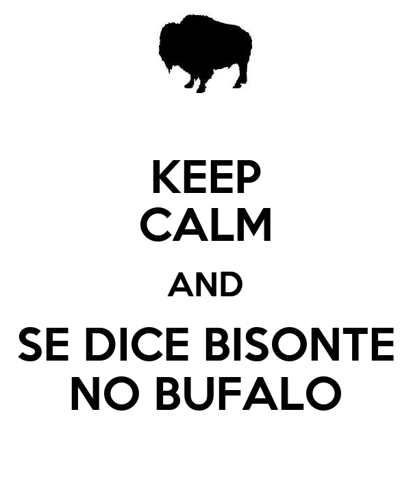 KEEP CALM AND SE DICE BISONTE NO BUFALO