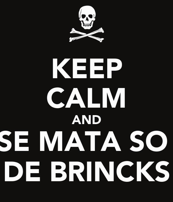 KEEP CALM AND SE MATA SO  DE BRINCKS