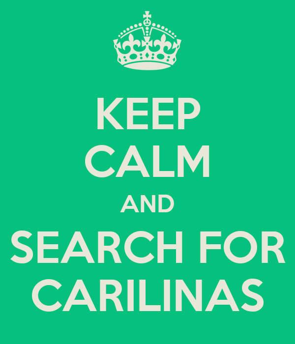 KEEP CALM AND SEARCH FOR CARILINAS