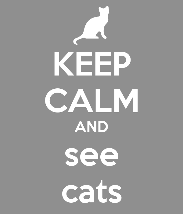 KEEP CALM AND see cats