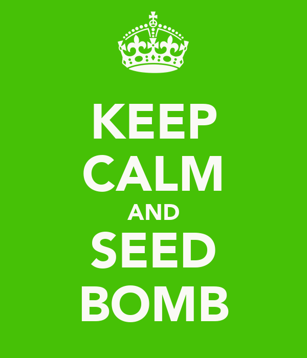 KEEP CALM AND SEED BOMB