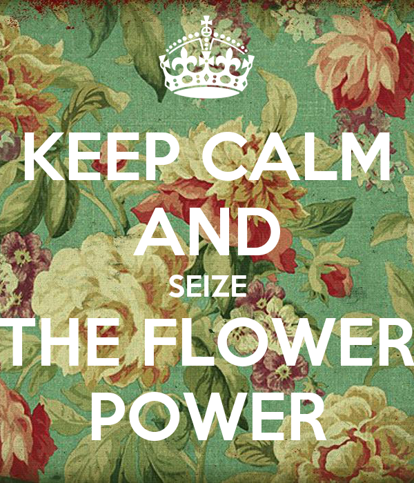 KEEP CALM AND SEIZE THE FLOWER POWER