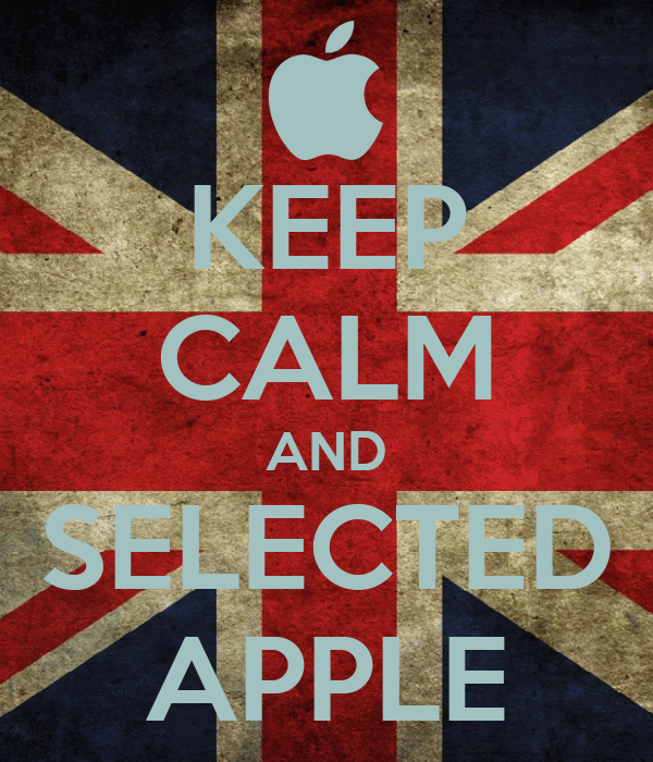 KEEP CALM AND SELECTED APPLE
