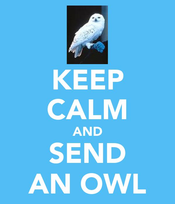KEEP CALM AND SEND AN OWL