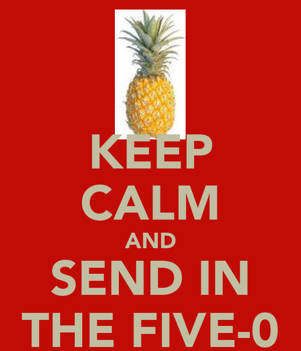 KEEP CALM AND SEND IN THE FIVE-0