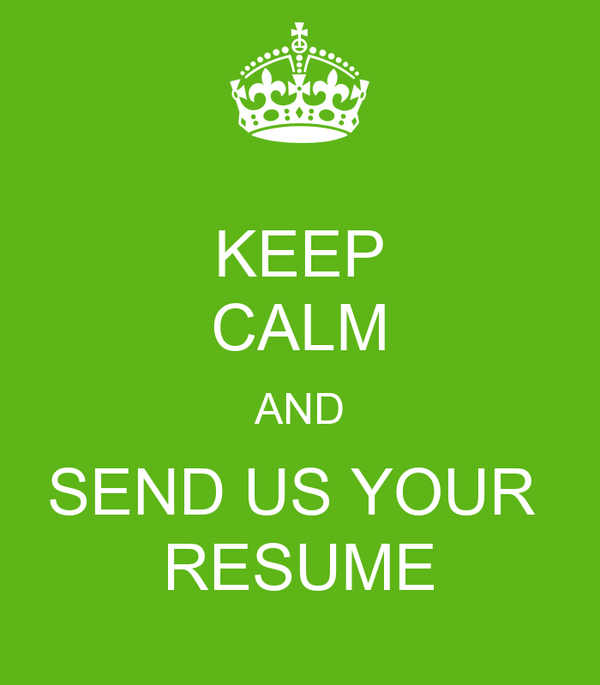 keep calm and send us your resume poster rass hungary
