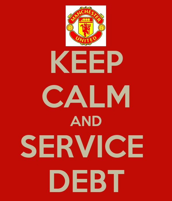 KEEP CALM AND SERVICE  DEBT