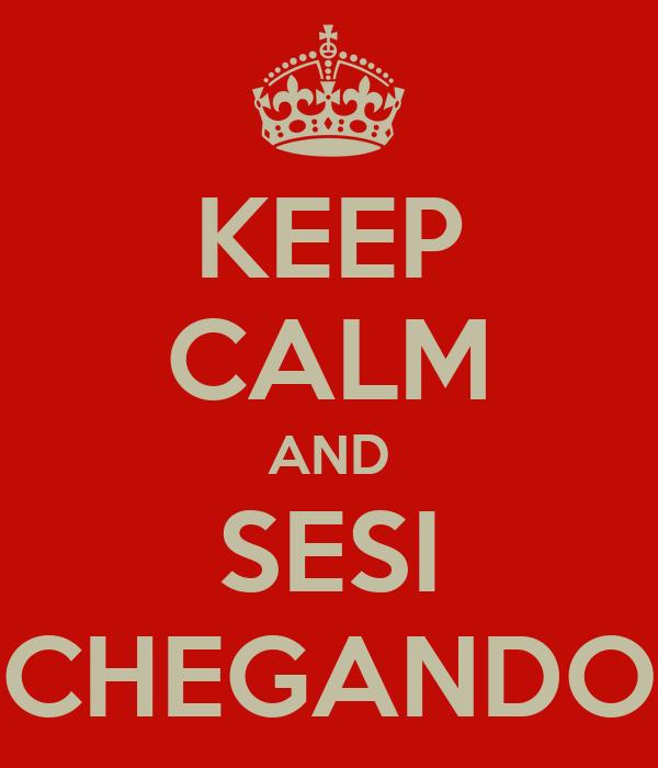 KEEP CALM AND SESI CHEGANDO