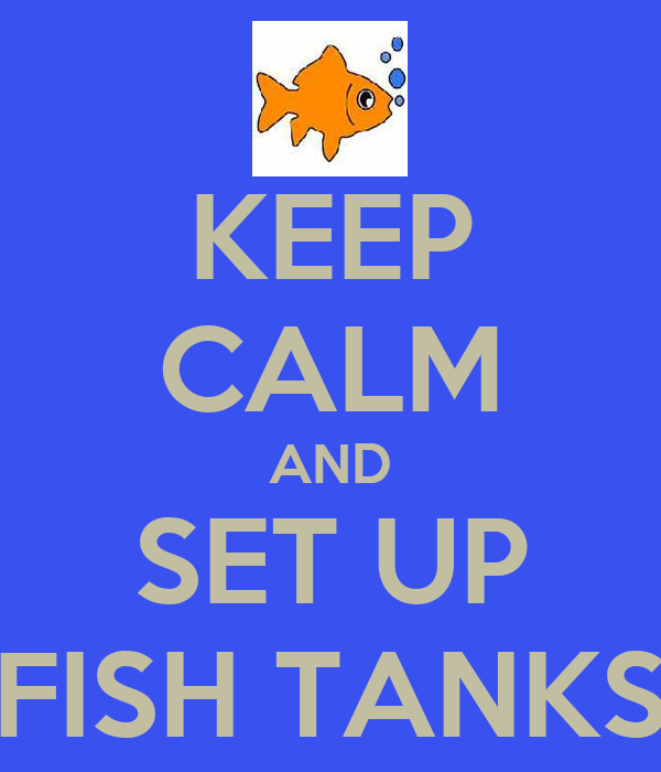 KEEP CALM AND SET UP FISH TANKS