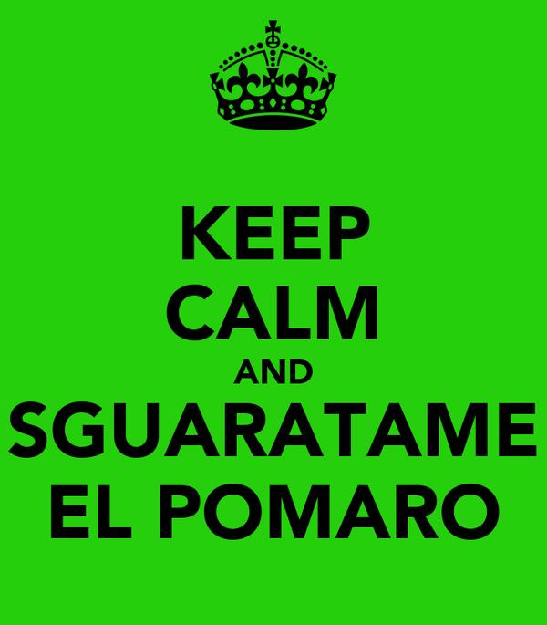 KEEP CALM AND SGUARATAME EL POMARO
