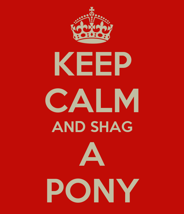 KEEP CALM AND SHAG A PONY