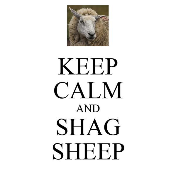 KEEP CALM AND SHAG SHEEP