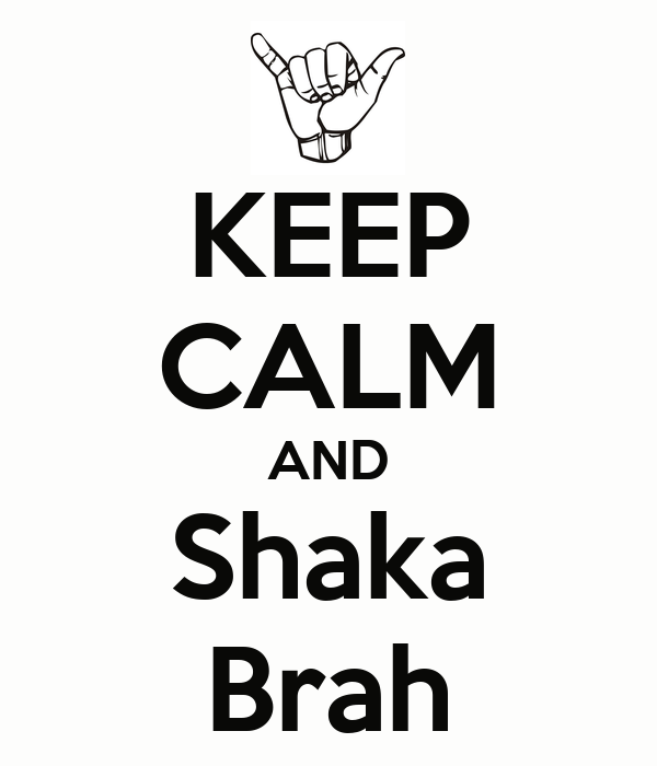 KEEP CALM AND Shaka Brah