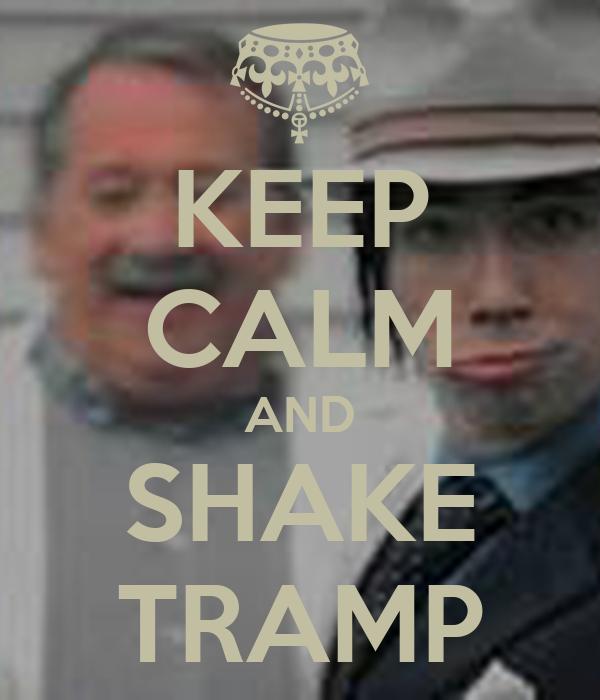 KEEP CALM AND SHAKE TRAMP