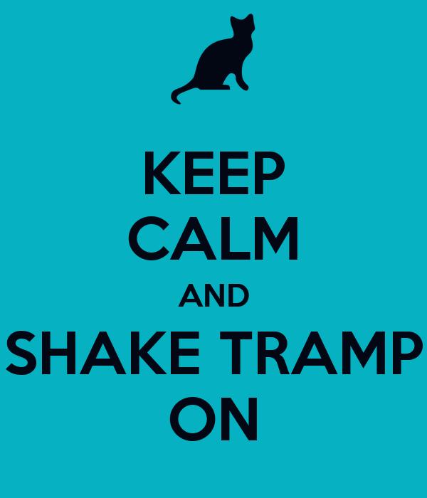 KEEP CALM AND SHAKE TRAMP ON