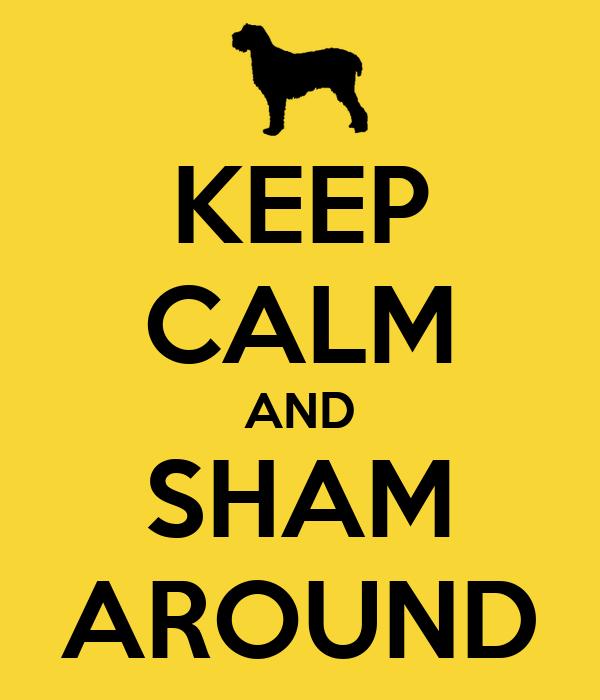 KEEP CALM AND SHAM AROUND
