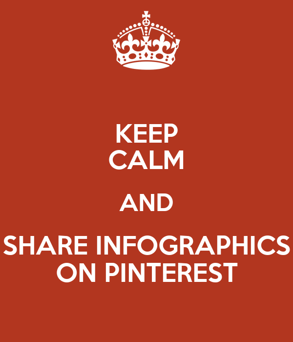 KEEP CALM AND SHARE INFOGRAPHICS ON PINTEREST