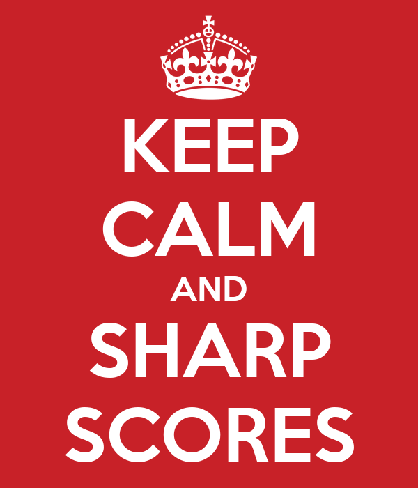 KEEP CALM AND SHARP SCORES