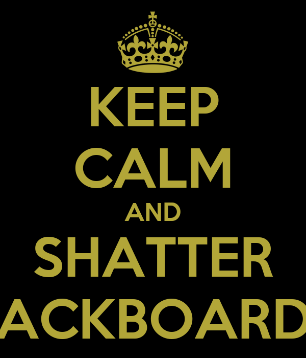 KEEP CALM AND SHATTER BACKBOARDS