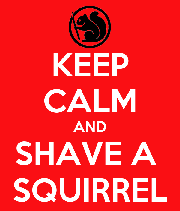 KEEP CALM AND SHAVE A  SQUIRREL