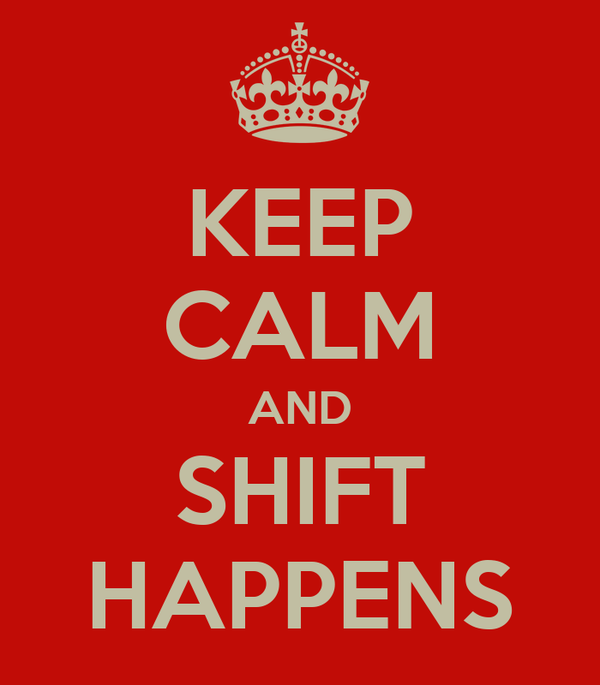 KEEP CALM AND SHIFT HAPPENS