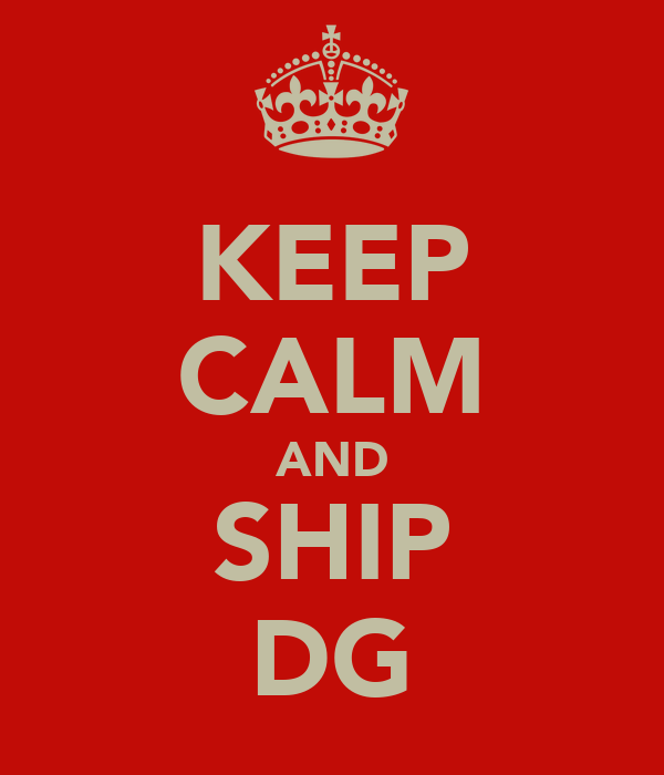 KEEP CALM AND SHIP DG