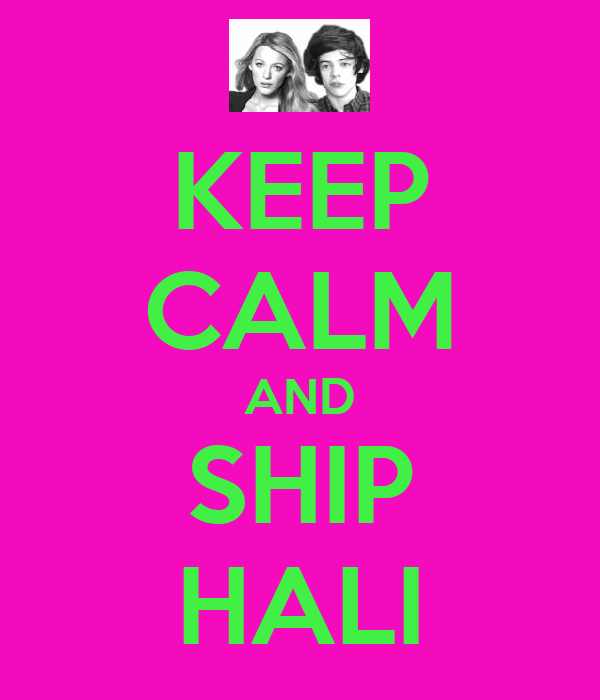 KEEP CALM AND SHIP HALI
