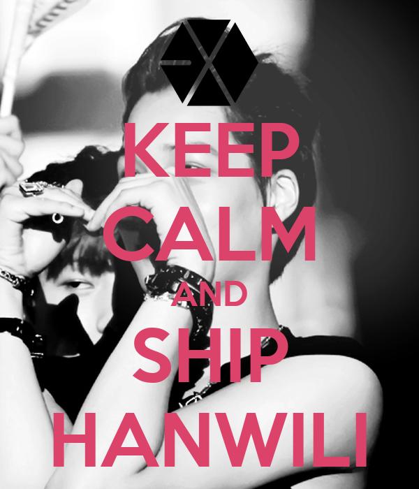 KEEP CALM AND SHIP HANWILI