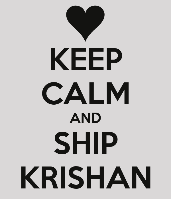 KEEP CALM AND SHIP KRISHAN