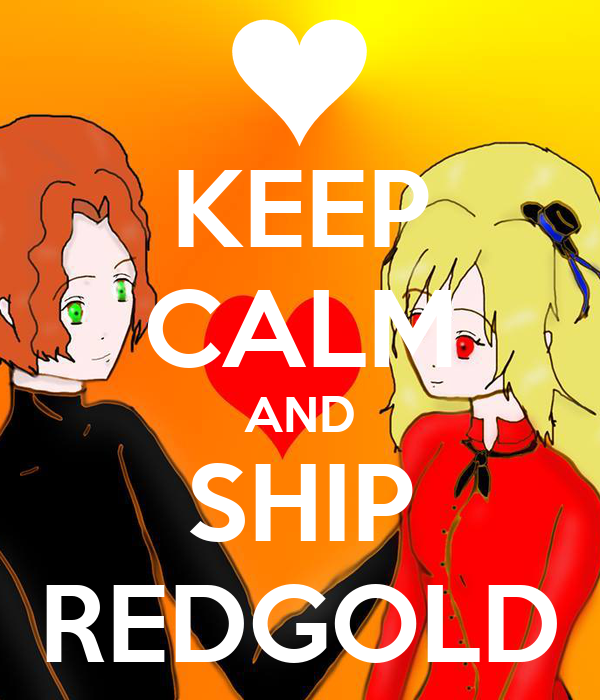 KEEP CALM AND SHIP REDGOLD