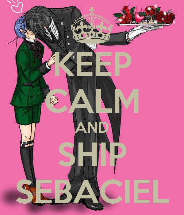 KEEP CALM AND SHIP SEBACIEL
