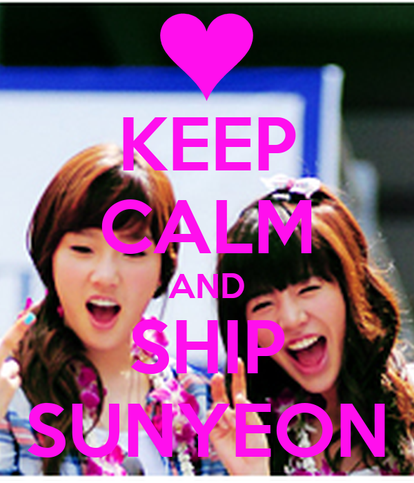 KEEP CALM AND SHIP SUNYEON