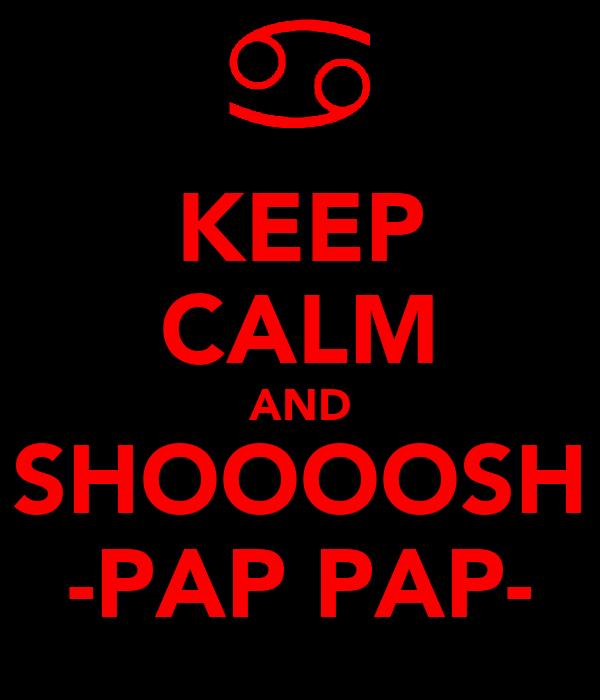 KEEP CALM AND SHOOOOSH -PAP PAP-