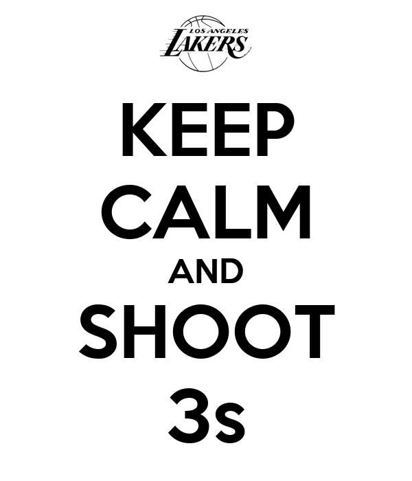 KEEP CALM AND SHOOT 3s