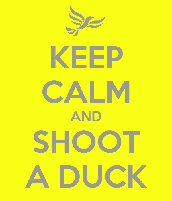 KEEP CALM AND SHOOT A DUCK