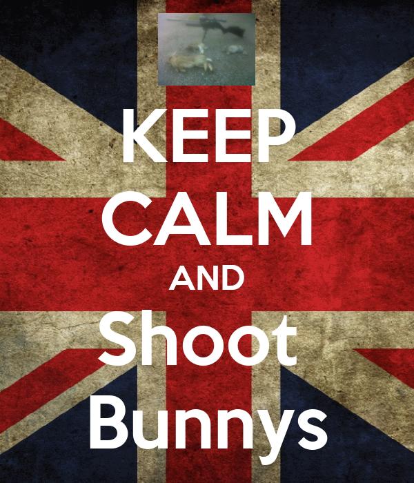 KEEP CALM AND Shoot  Bunnys
