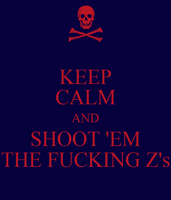 KEEP CALM AND SHOOT 'EM THE FUCKING Z's