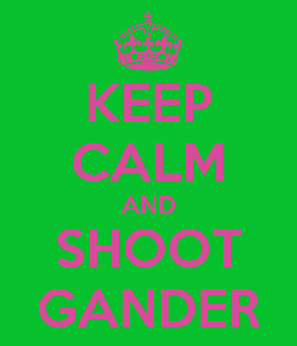 KEEP CALM AND SHOOT GANDER