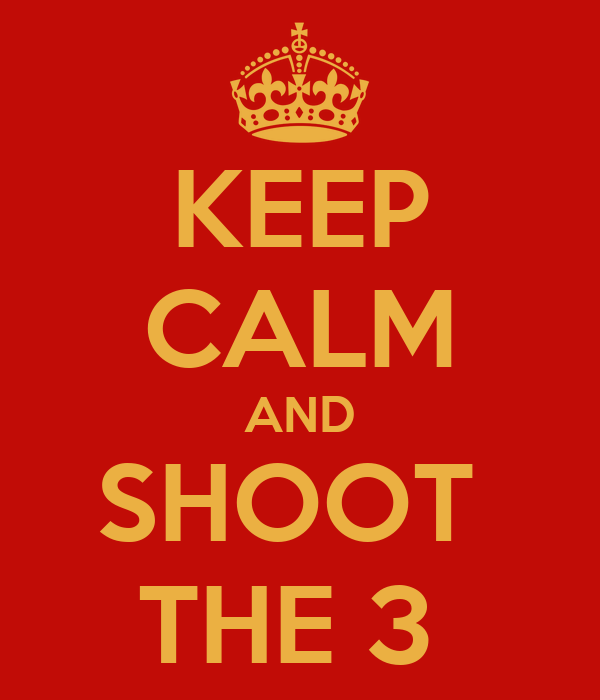 KEEP CALM AND SHOOT  THE 3