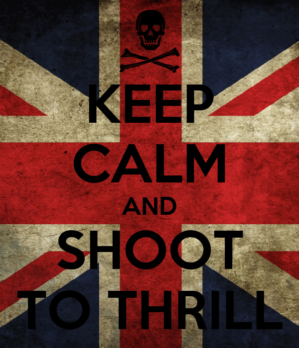 KEEP CALM AND SHOOT TO THRILL