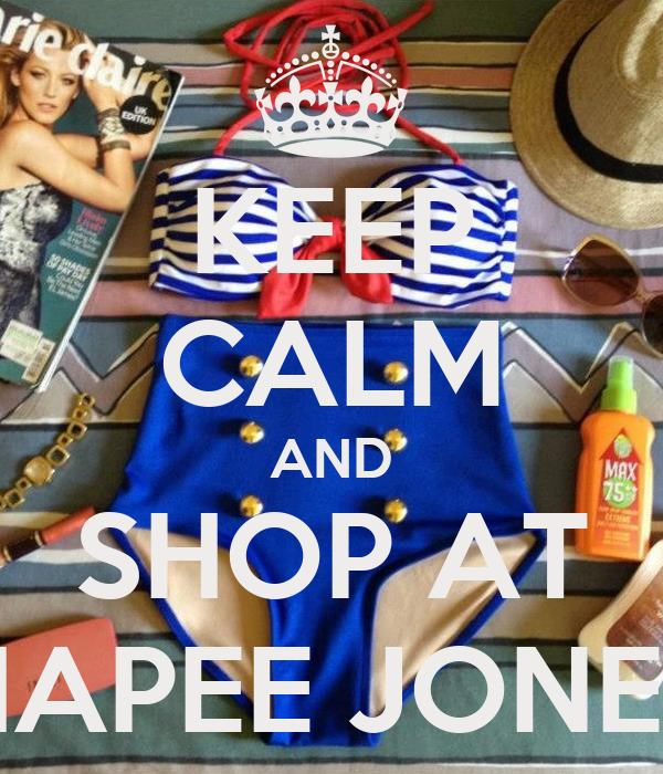 KEEP CALM AND SHOP AT HAPEE JONEE