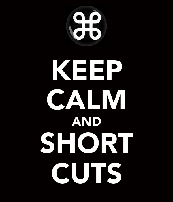 KEEP CALM AND SHORT CUTS