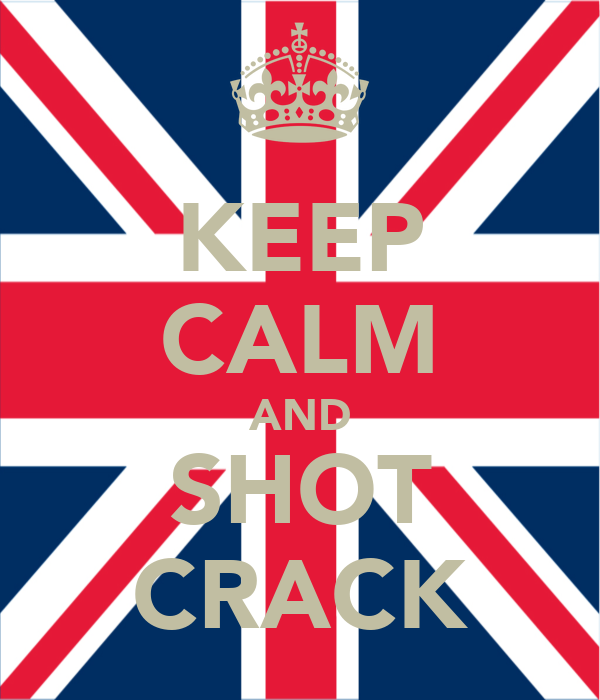 KEEP CALM AND SHOT CRACK